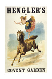 Convent Garden, London. Hengler's Grand Cirque, C.,1888. Woman Dancing On Horseback ジクレープリント : Henry Evanion
