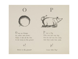Orange and Pig Illustrations and Verses From Nonsense Alphabets Drawn and Written by Edward Lear. Giclée-tryk af Lear, Edward