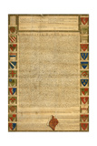 Facsimile Of Burnt Magna Carta Giclee Print