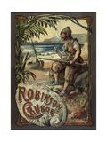 Robinson Crusoé Reproduction procédé giclée