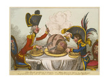 Pitt and Napoleon Giclée-tryk af James Gillray