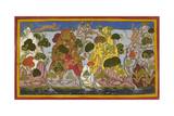 Hanuman Fetches the Magic Herbs Giclée-tryk