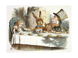 The Mad Hatter's Tea Party Impressão giclée por John Teniel