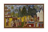 Hanuman in the Ashoka Grove Giclée-tryk