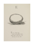 Egg Illustrations and Verses From Nonsense Alphabets Drawn and Written by Edward Lear. Giclee Print by Edward Lear