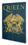 Queen - Crest Cartel de madera