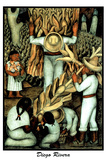 Corn Harvest Diego Rivera Mexico Poster
