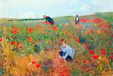 Mary Cassatt Poppy In The Field Art by Mary Cassatt