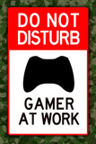 Do Not Disturb Xbox Gamer at Work Video Game Pôsters