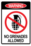 Jersey Shore No Grenades Allowed Sign TV Prints