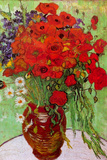 Vincent van Gogh Still Life Red Poppies and Daisies Poster by Vincent van Gogh