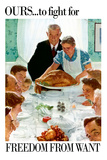 Norman Rockwell Freedom From Want WWII War Propaganda ポスター : ノーマン・ロックウェル