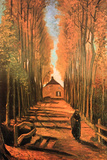 Vincent van Gogh Avenue of Poplars in Autumn Art by Vincent van Gogh