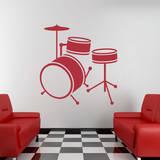 Drum Set Red Wall Decal Adesivo de parede