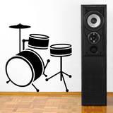 Drum Set Black Wall Decal Adesivo de parede