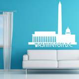 Washington DC Skyline White Wall Decal Adesivo de parede