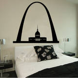 St. Louis Arch Black Wall Decal Adesivo de parede