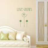 Love Grows Olive Wall Decal Adesivo de parede