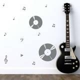 Record Harmony Grey Wall Decal Adesivo de parede