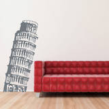 Leaning Tower of Pisa Grey Wall Decal Adesivo de parede
