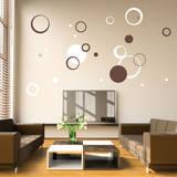 Circle Daze Brown Wall Decal Adesivo de parede