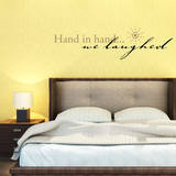 Hand in Hand…We laugh Black Wall Decal Adesivo de parede