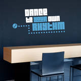 Rhythm Quote Blue Wall Decal Adesivo de parede
