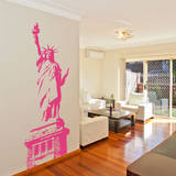 Statue of Liberty Pink Wall Decal Adesivo de parede