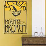 Morning has Broken(黄色)ウォールステッカー・壁用シール ウォールステッカー