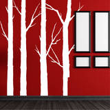 Forest Trees White Wall Decal Adesivo de parede