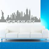 New York City Skyline Grey Wall Decal Adesivo de parede