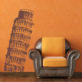 Leaning Tower of Pisa Brown Wall Decal Adesivo de parede