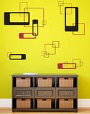 Retro Blocks Black Wall Decal Adesivo de parede