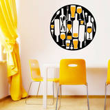Are You There Wine Yellow Wall Decal Adesivo de parede
