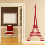 Eiffel Tower Red Wall Decal Adesivo de parede