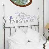 Fairy Dust Quote Lavender Wall Decal Adesivo de parede