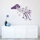 Notes in Flight Violet Wall Decal Adesivo de parede