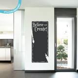 Believe & Create Chalkboard Wall Decal Adesivo de parede