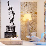 Statue of Liberty Black Wall Decal Adesivo de parede