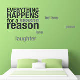 Happens for a Reason Grey Wall Decal Adesivo de parede