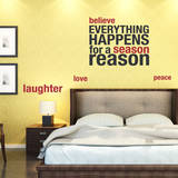 Happens for a Reason Red Wall Decal Adesivo de parede