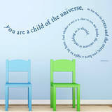 Child of the Universe Quote Gentian Wall Decal Adesivo de parede