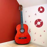 Record Harmony Red Wall Decal Adesivo de parede