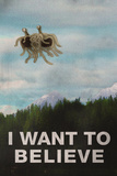 Flying Spaghetti Monster I Want To Believe Poster