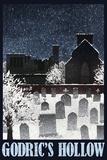 Godric's Hollow Retro Travel Prints