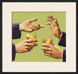 Two Men Talking With Hands and Holding Drink Prints by  Pop Ink - CSA Images