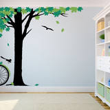 Maple Afternoon Green Wall Decal Adesivo de parede