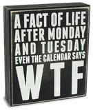 Fact of Life Box Sign 木製看板