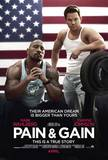 Pain and Gain (Mark Wahlberg, Dwayne Johnson, Anthony Mackie) Movie Poster Impressão original