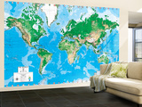 Executive World Map (Write on) Dry Erase Giant Laminated Map Poster Mural de papel de parede